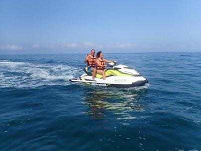 1小时两人水上摩托艇路线,穿越ÁguilasCostaCálida