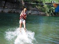 Zip line on the water