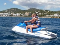 Driving the jet ski tigether