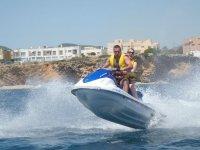 Rising the jet ski