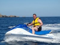 A sunny day with a jet ski