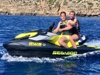 Navigate with jet ski in Formentera