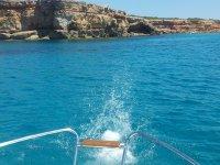 Paseo en barco en Ibiza