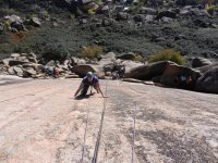 Foto desde arriba de la escalada