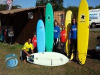Familia surfera