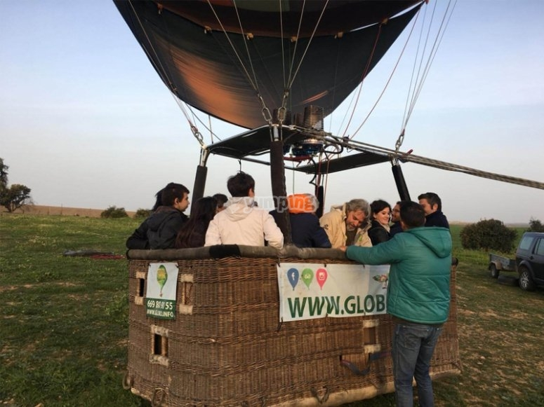 Balloon flight for couples