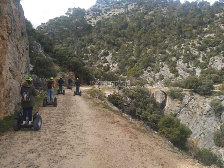 Ride through the natural park of Cazorla by segway