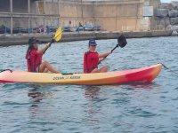 los peques en kayak
