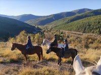 Enjoying a horseback riding