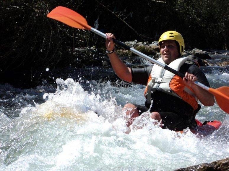 Canoa-Raft muy refrescante