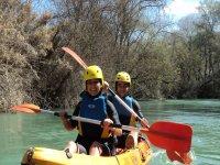 Rafting su canoe gonfiabili sul fiume Genil