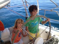 Little ones at the helm