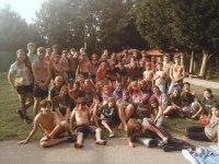 Alumnos del campamento en Santona