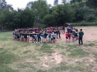 Campers playing in a circle