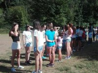 Group games in the camp