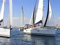 Regatta in the bay of Alicante