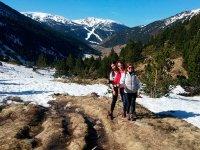 Trekking with sticks in Andorra