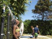 Shower after the surf session