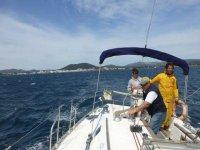 aprendiendo en el barco