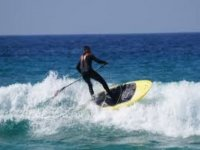 catching the wave with a sup