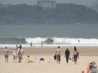Surfers and bathers