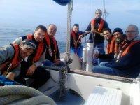 Alumnos en velero
