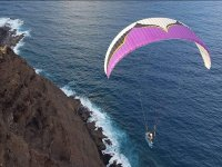 Paragliding over the island