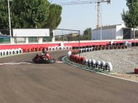 en un circuito de karting