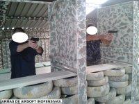 Galería de tiro de airsoft y paintball en el interior