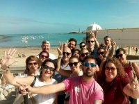 Visitando la playa en Cadiz