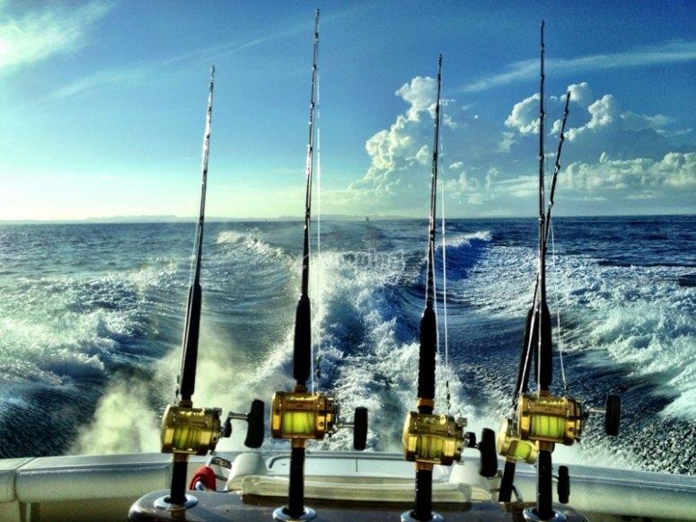 Disfrutando de una salida de pesca