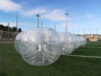 Esferas de futbol burbuja