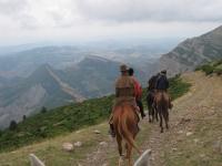 在巴塞罗那的马背上的山峰