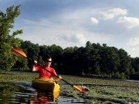 Kayak all'interno del fiume