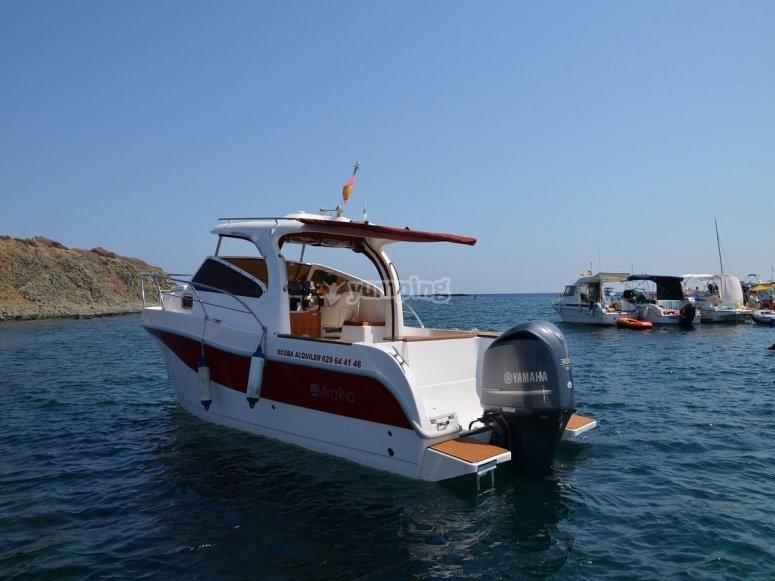 在Santa Pola的船
