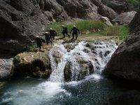 Scendendo nel burrone dell'Ebro
