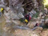 Discesa del canyon con la corda