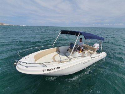 Alquiler barco Allegra con licencia Santa Pola 8h