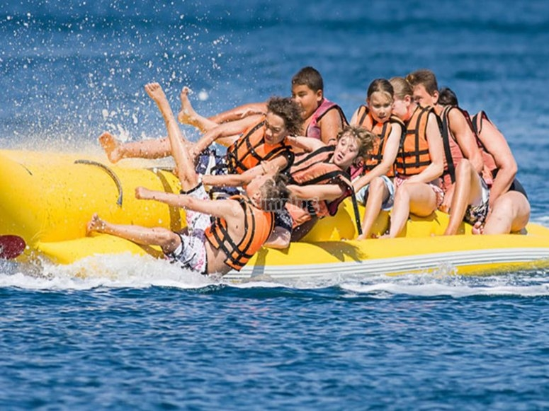 Banana boat nella baia di Palma