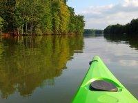 Fine del kayak verde