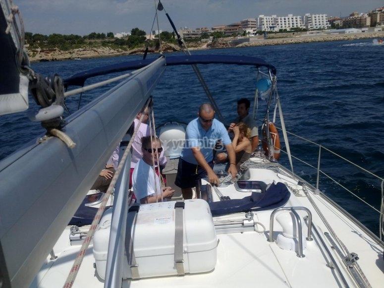 Maniobras en el barco