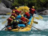 Rafting activity