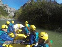 Starting rafting