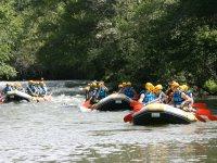 Adventure in rafting
