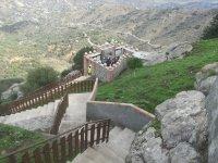 Escaliers à la tyrolienne