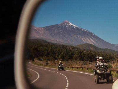 泰德山四人自行车之旅,包括小吃和葡萄酒4小时