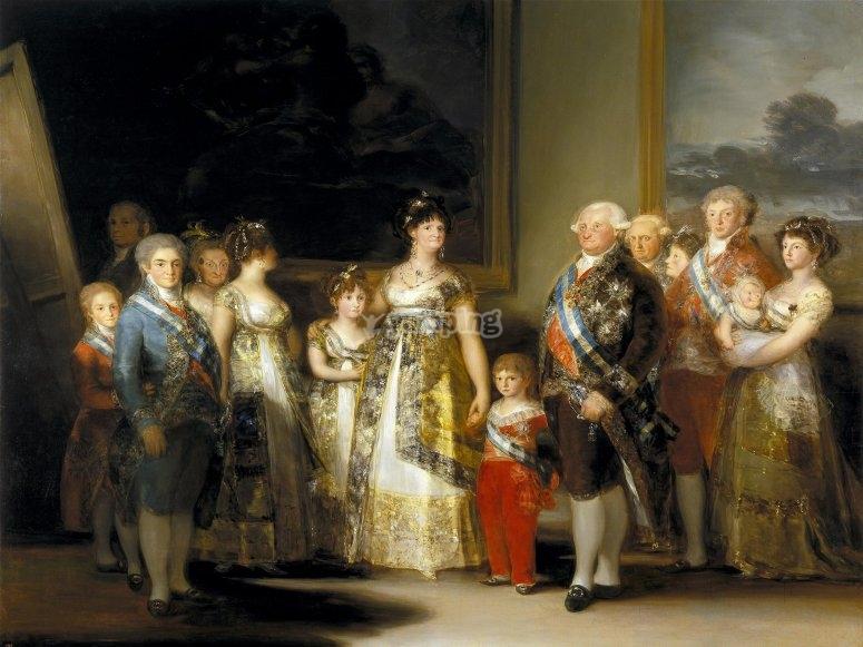 La familia de Carlos IV por Goya