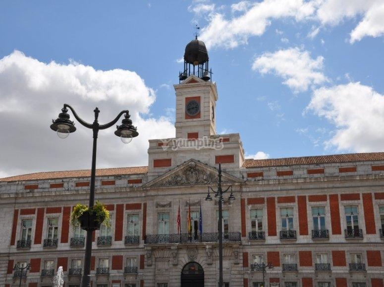 Puerta de Sol donde se desarrolló la guerra