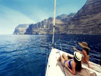 By boat in Los Gigantes
