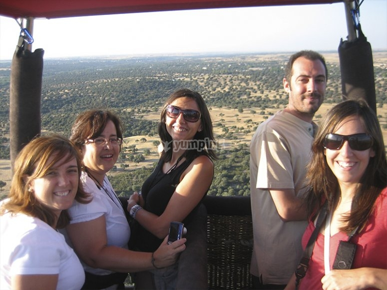 Balloon excursion through Guadarrama
